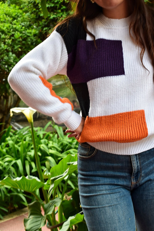 Suéter Geométrico Knitwear