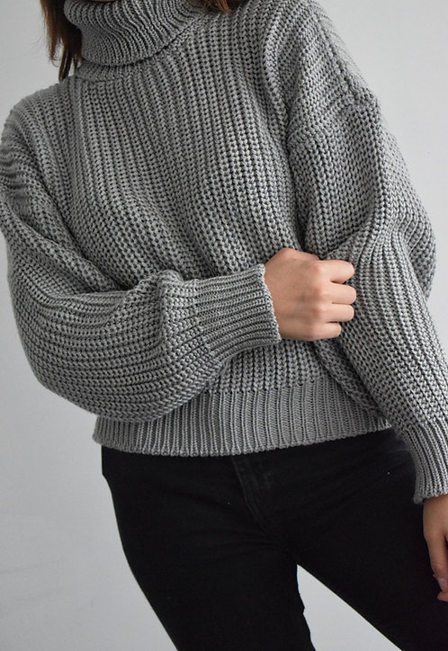 Suéter Oversize Cuello Tortuga