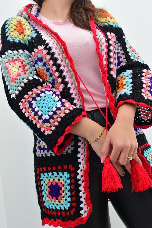 Cardigan Tejido en Crochet