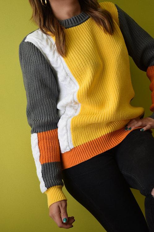 Suéter Multitejido Knitwear