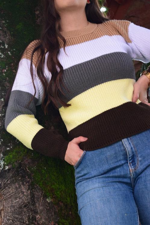 Suéter a Rayas Tierra
