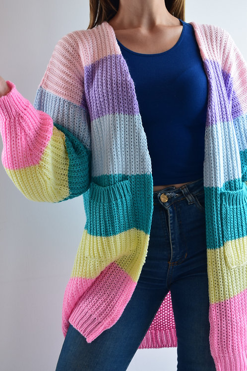 Cardigan Multicolor Pasteles