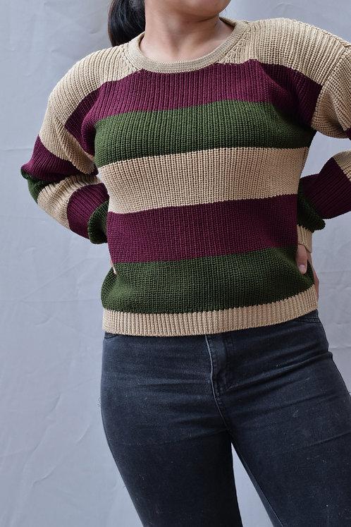 Suéter a Rayas Tonos Oscuros