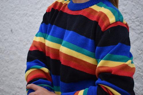 Suéter franjas multicolor