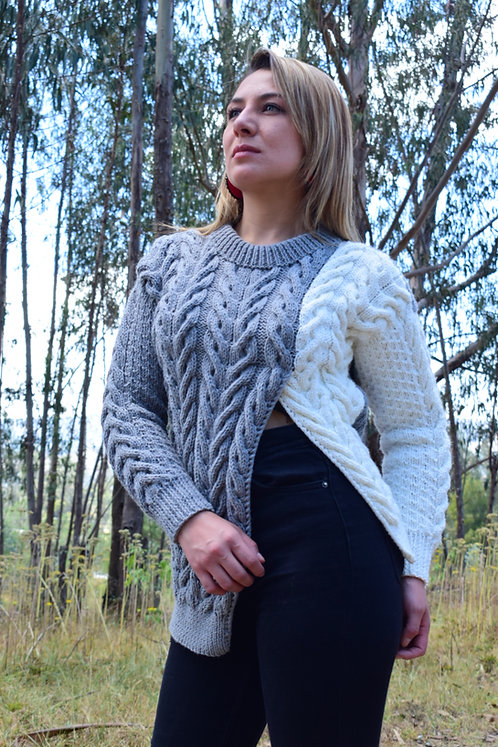 Suéter Combinado Handmade