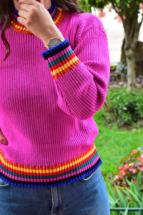 Suéter Combinado Knitwear