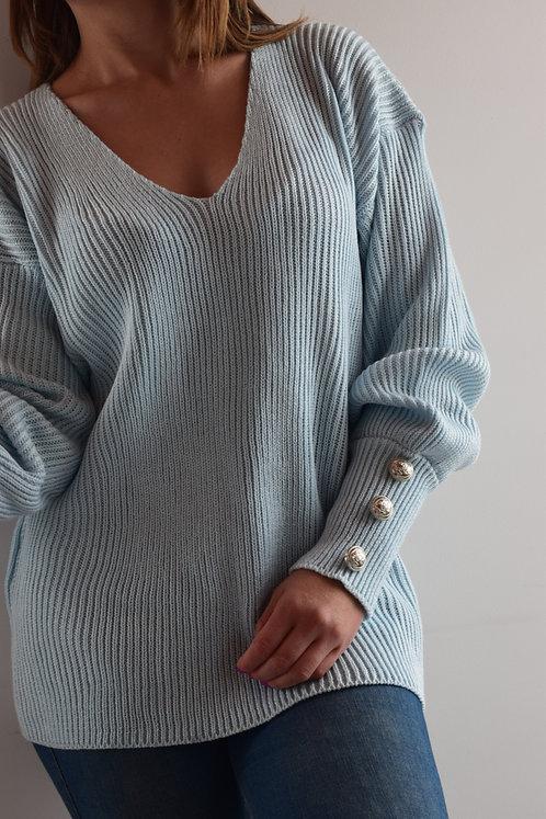 Suéter Liso con Botones
