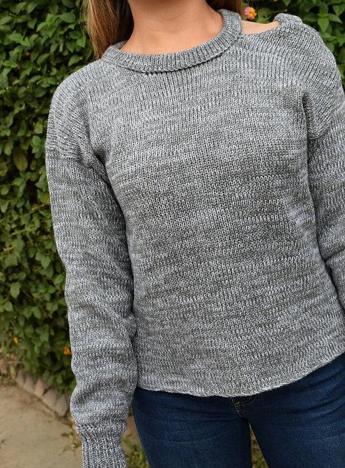 Suéter con Apertura en el Hombro