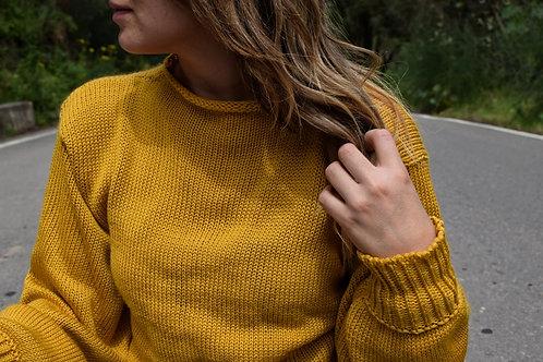 Suéter manga ancha