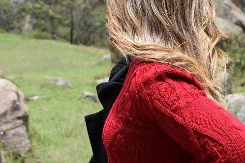 Suéter largo trenzado