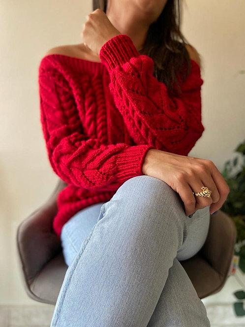 Suéter Cuello Bandeja Trenzado