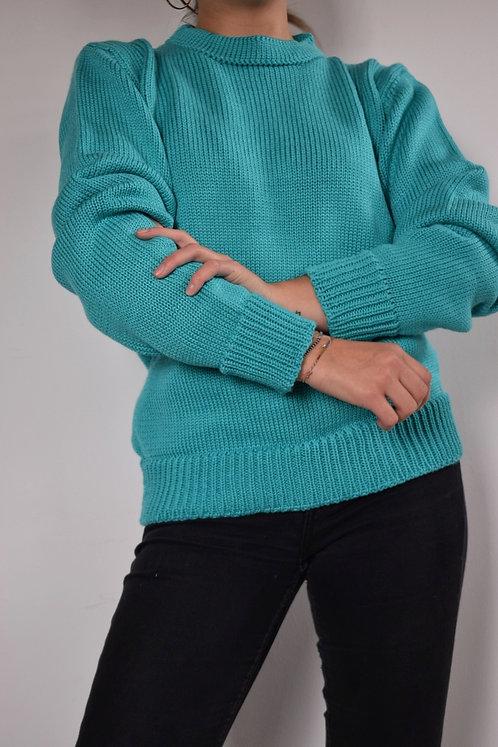 Suéter Básico Aguamarina