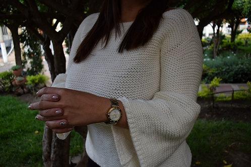 Suéter mangas tipo campana