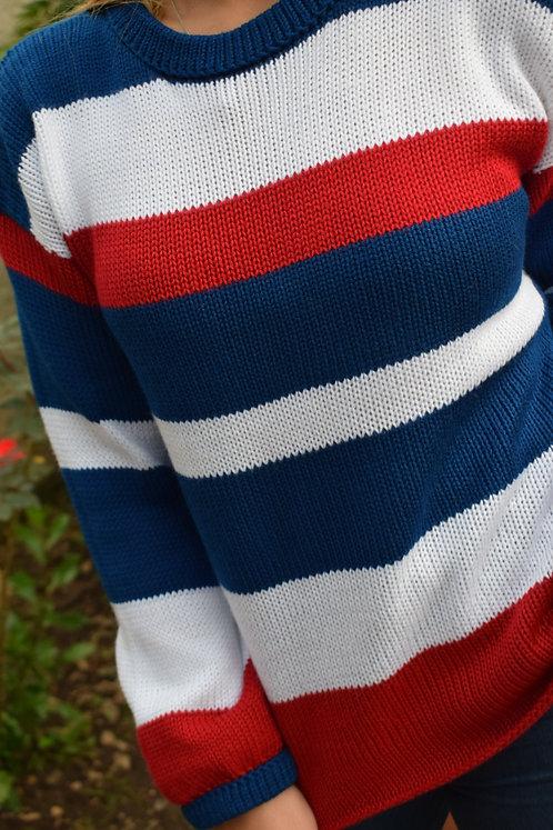 Suéter con Franjas Combinado