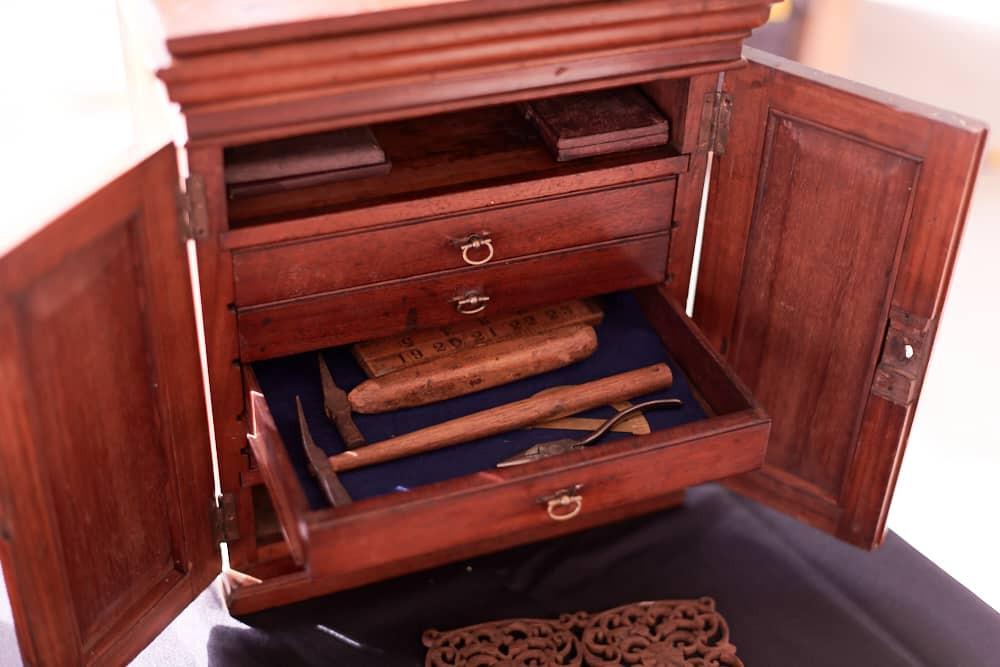 Mahogany timber drawer
