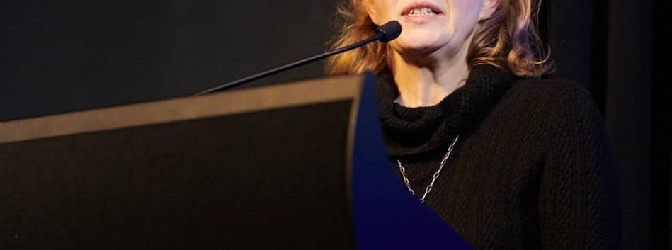 Victoria Pearce giving a talk
