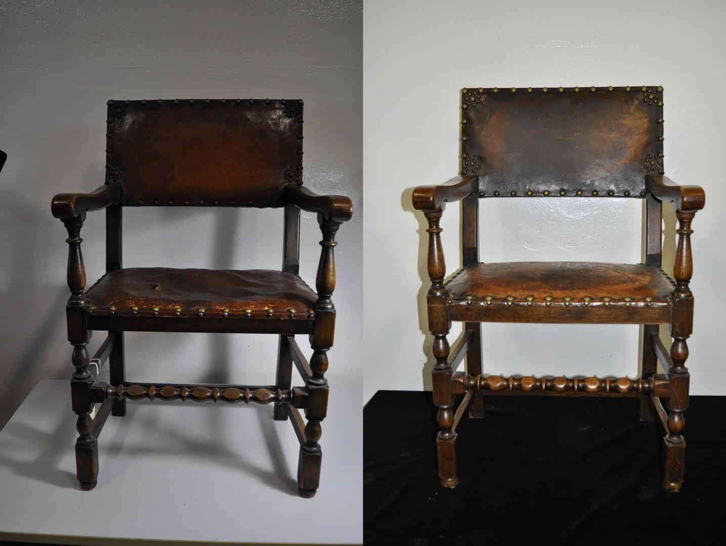 Leather chair repair