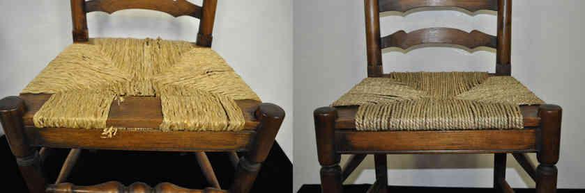 Rush fabric chair Repair