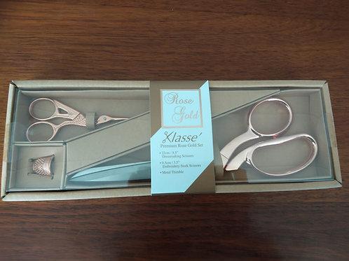 Klassé Premium 3pc Rose Gold set