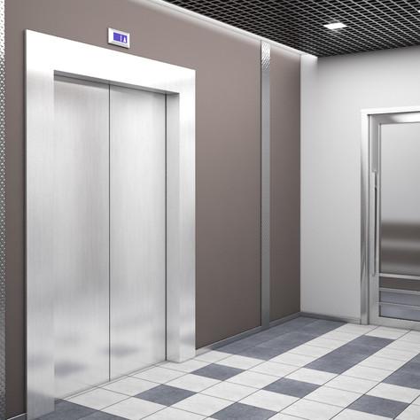 Commersial interior, elevator hall