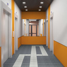 Apartment building, elevator hall