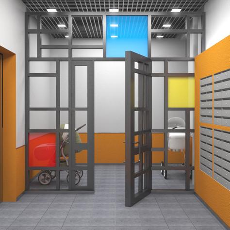 Apartment building, storage