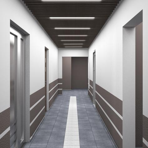 Commersial interior, corridor