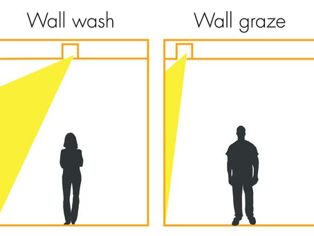 Wall Wash vs. Wall Graze