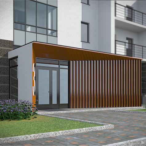 Apartment building, entrance area