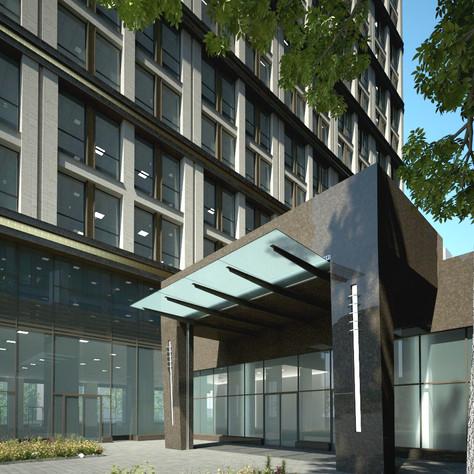 Business center, entrance
