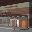 Hospital renovation, ambulance entrance canopy
