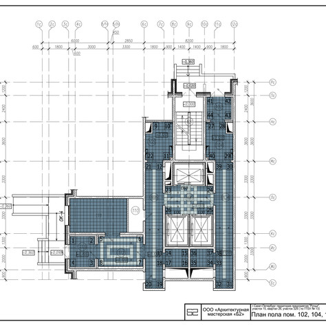 Commersial interior, plans