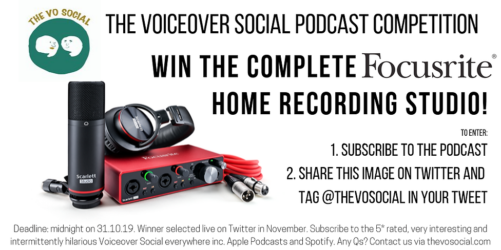 The Voiceover Social Podcast Focusrite C