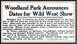 b 1923 Wild West Show