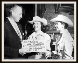 n 1957, Eleanor Lasher, Queen, with Gov McNichols