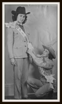j 1953,  LaVonne Williams and Sue Schupp aide