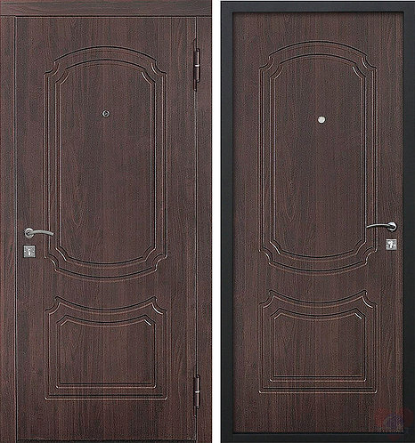 Дверь входная металлическая Классик мдф/мдф Темный кипарис