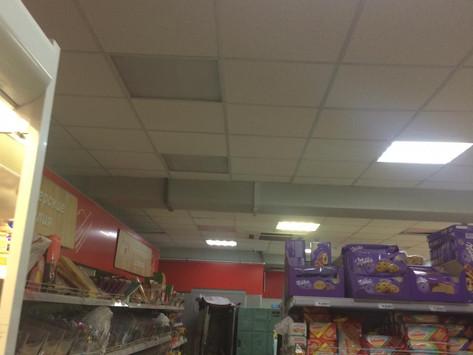 Восстановление освещения в магазине Магнит