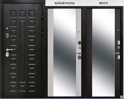 Дверь входная металлическая Сенатор 12 см с зеркалом
