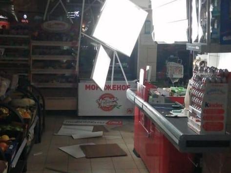 Выполнена работа по восстановлению потолка в магазине Магнит, Лыткарино
