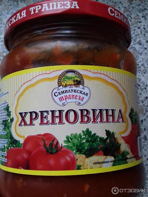 Кетчуп семилукская трапеза хреновина 500 гр
