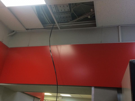 Произведён вывод кабеля и установка новой розетки