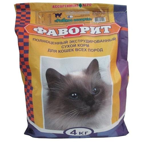 Корм для кошек Фаворит рыбное ассорти 4 кг