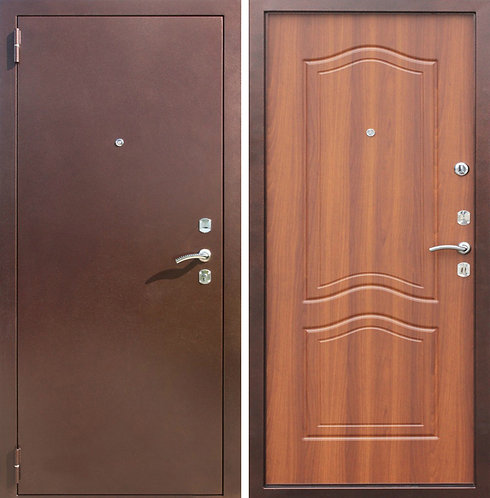 Дверь входная металлическая Доминанта медный антик
