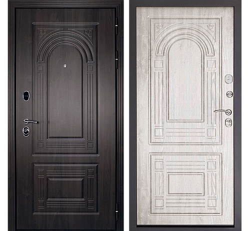 Дверь входная металлическая Флоренция Винорит Феррони беленый дуб