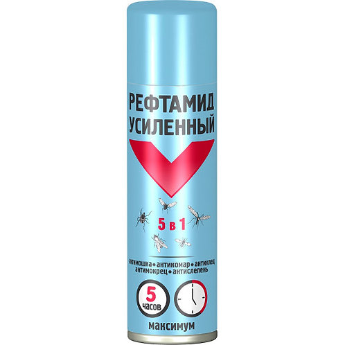 """Спрей от комаров """"Рефтамид 5 в 1."""