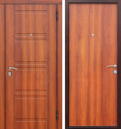 Дверь входная металлическая Оптима мдф/мдф рустикальный дуб