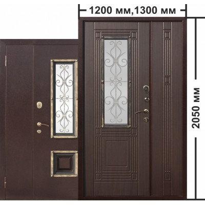 Дверь входная металлическая Цитадель Венеция 1200 венге