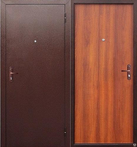 Дверь входная металлическая Стройгост 5 РФ рустикальный дуб