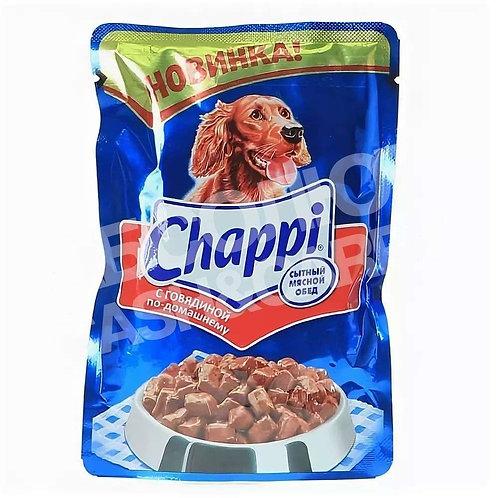 Корм для собак Chappi с говядиной по-домашнему 100 гр
